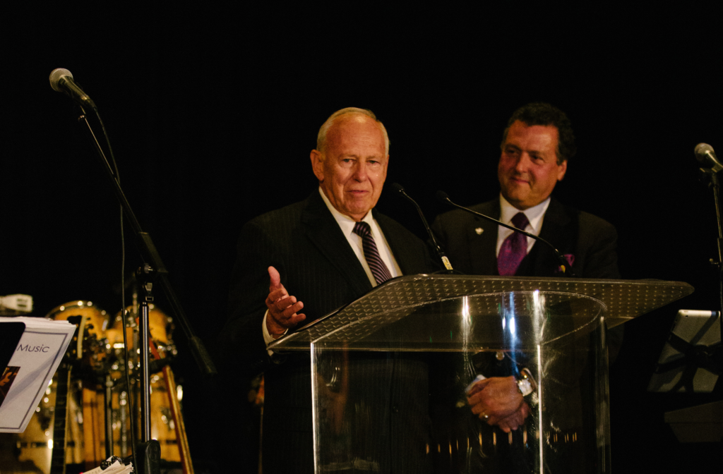 Donald Tapia receives the Alfredo J. Molina Community Lifeline Award.