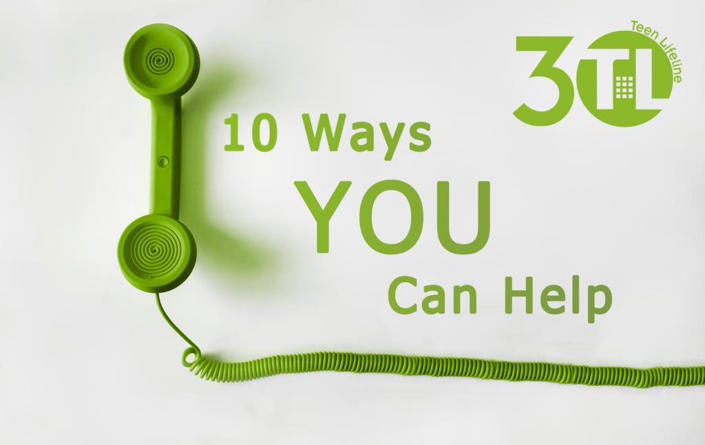 10 Ways to Help